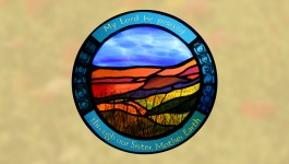 Stained glass - My Lord be praised through our Sister, Mother Earth